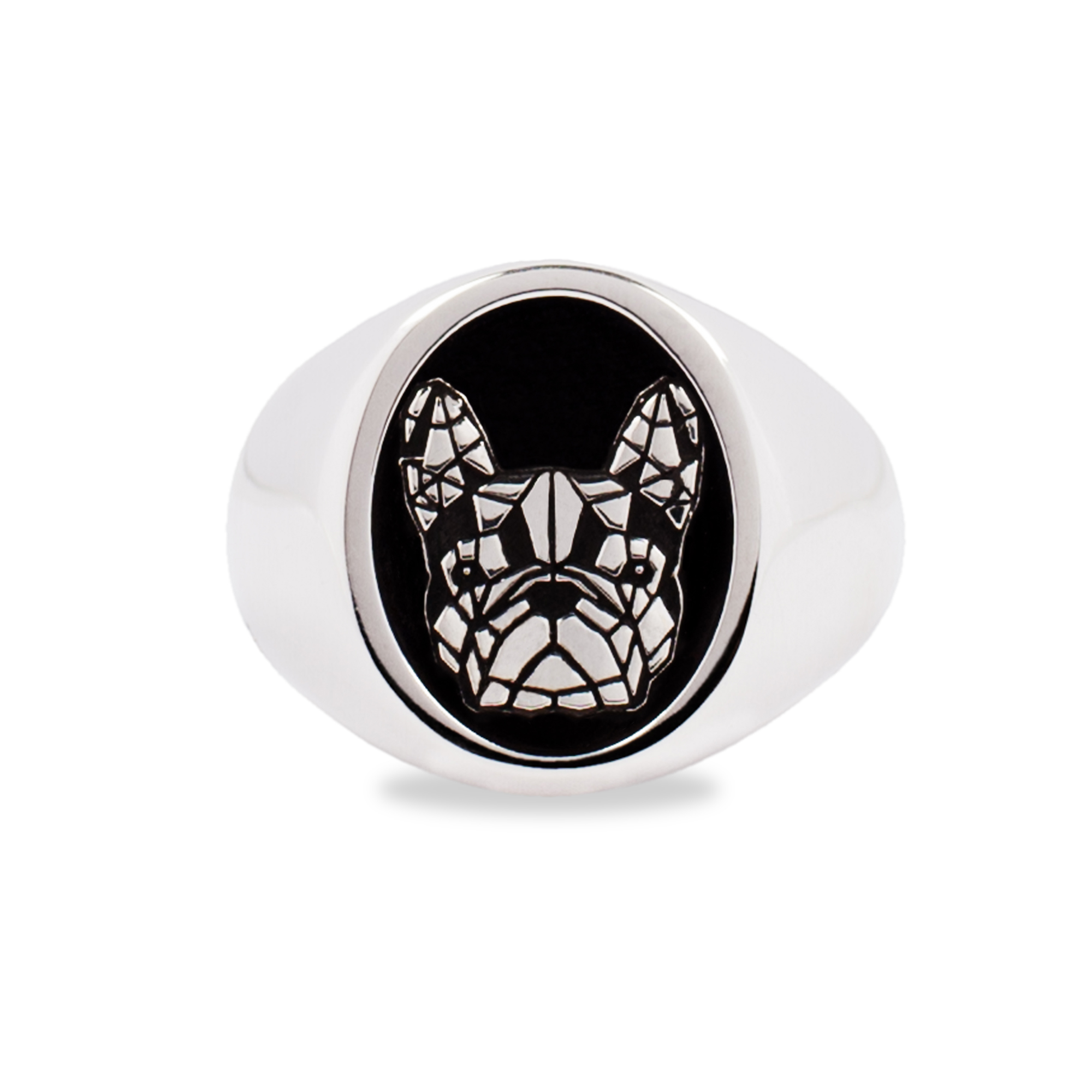 925 Silver French Bulldog Ring