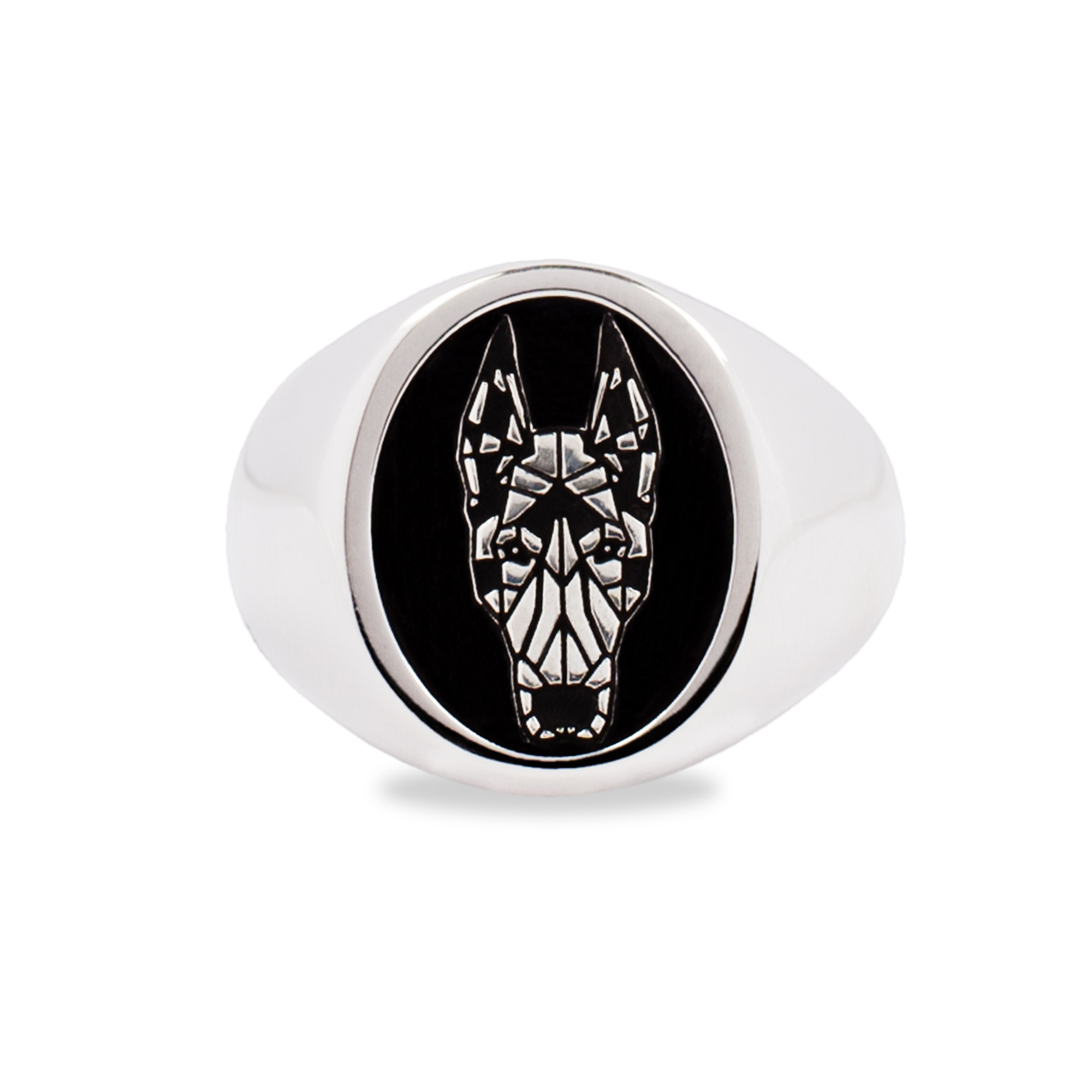 925 Silver Dobermann Ring