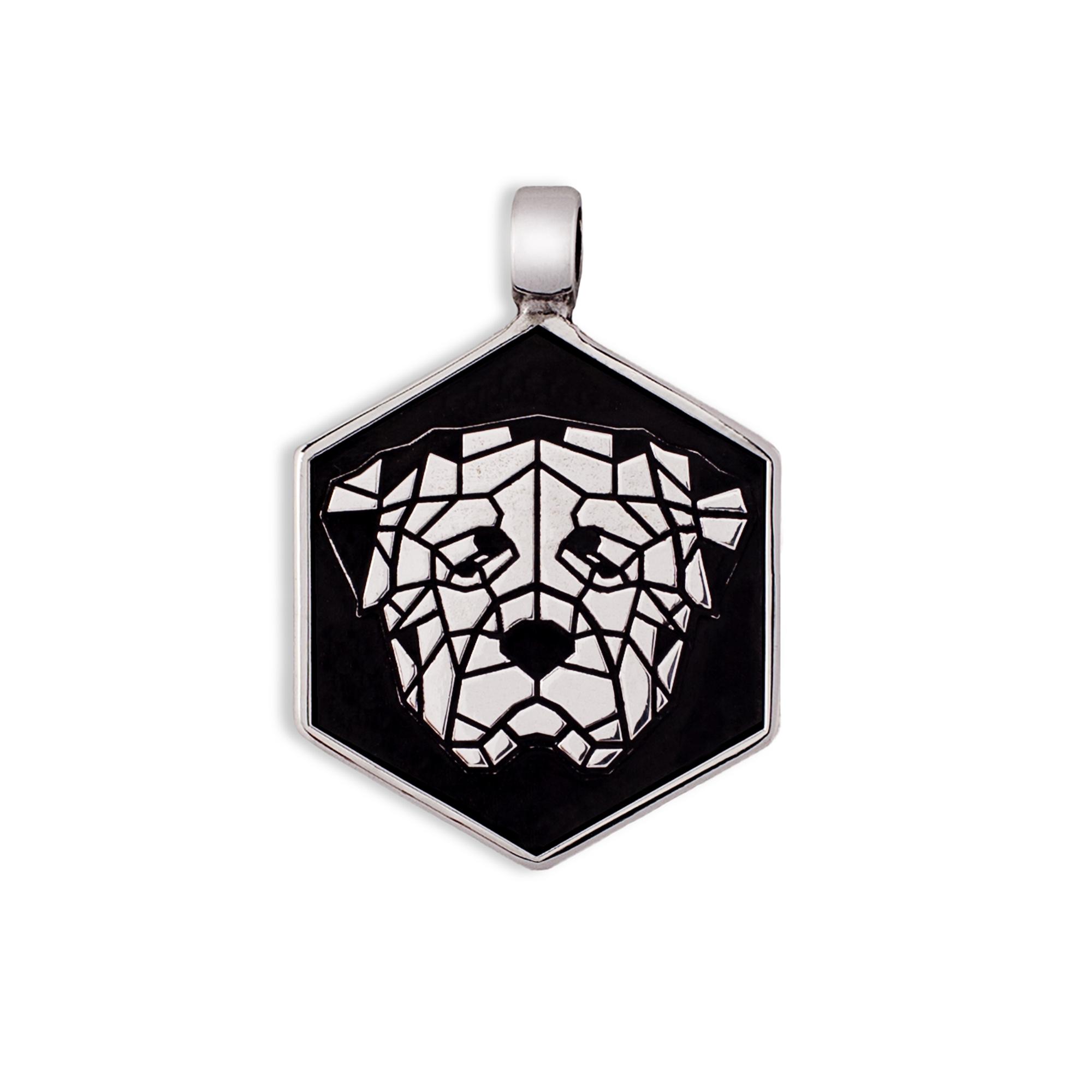 925 Silver Rottweiler Medal/tag