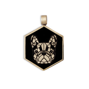 Medaglietta Cane Bulldog Francese Bronzo