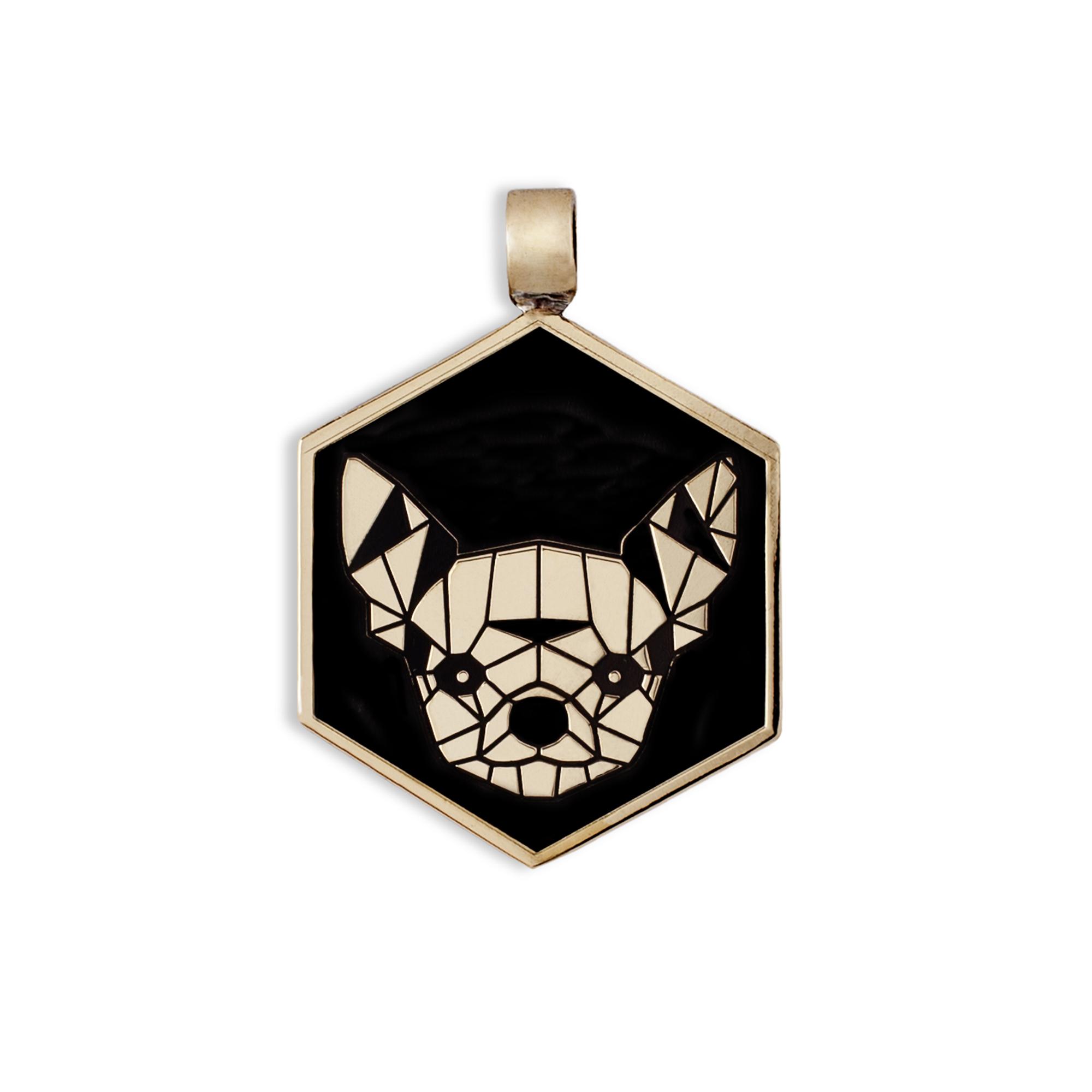 Medaglietta Cane Chihuahua Bronzo