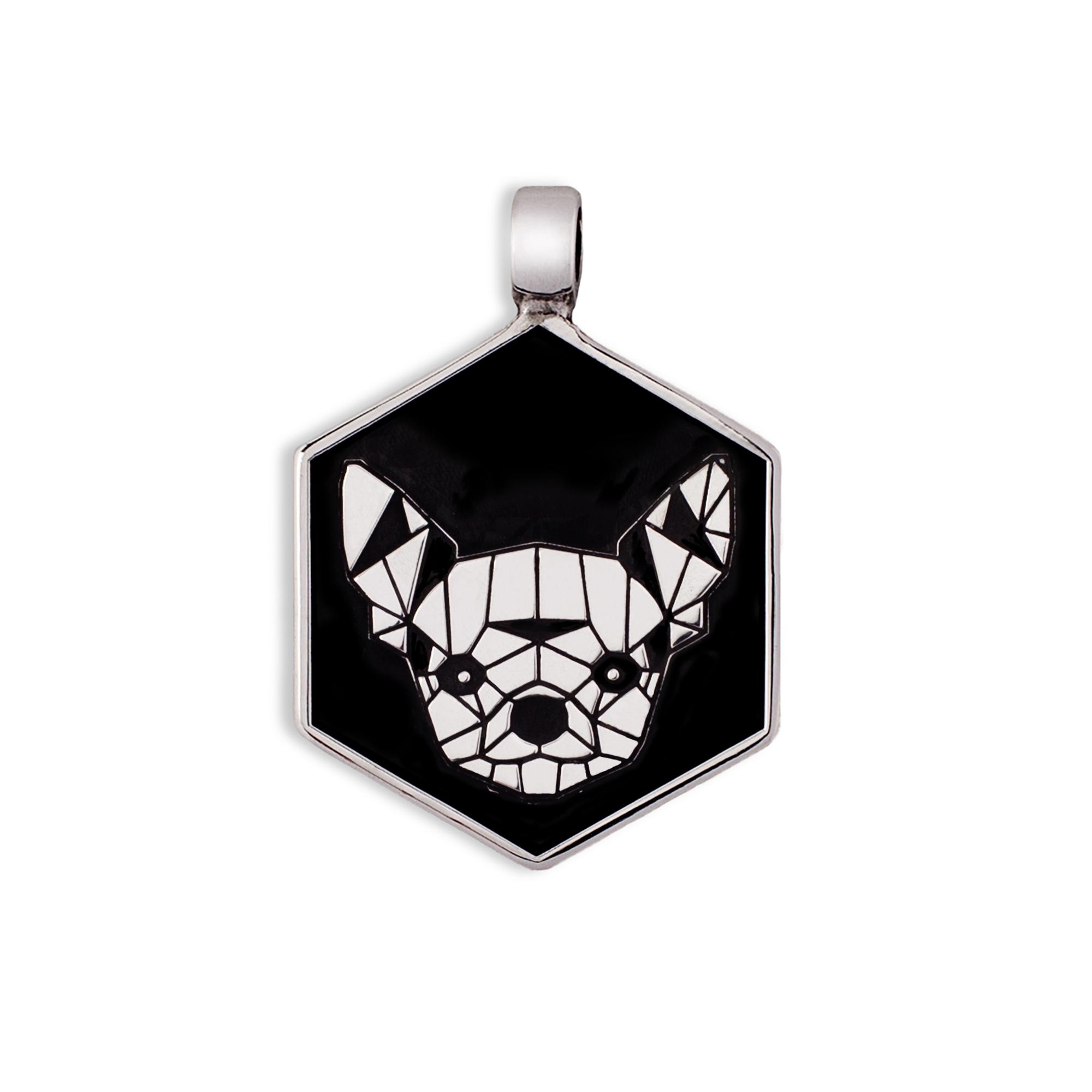 Medaglietta Cane Chihuahua Argento