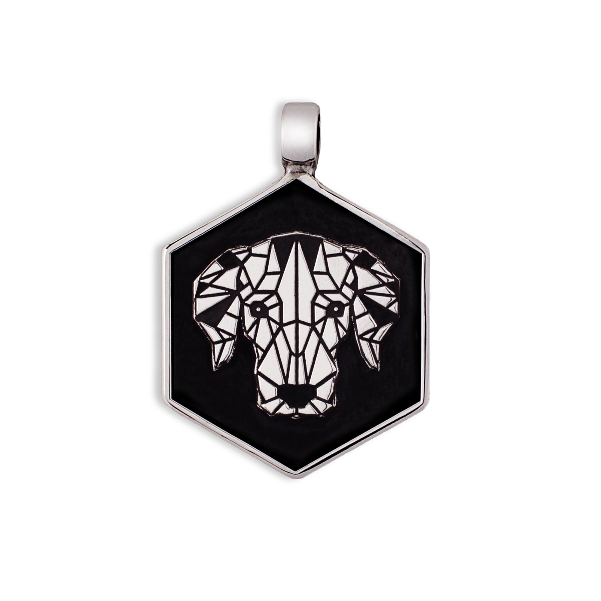 925 Silver Hound Medal/Tag