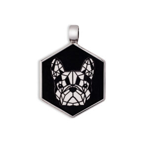 Medaglietta Cane Bulldog Francese Argento