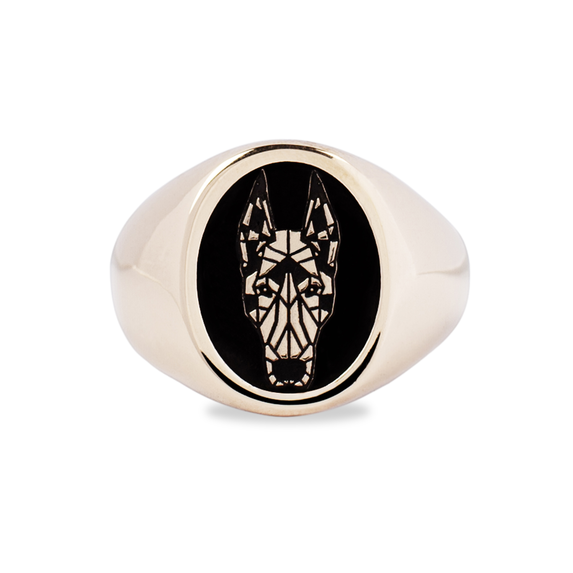 Bronze Dobermann Ring