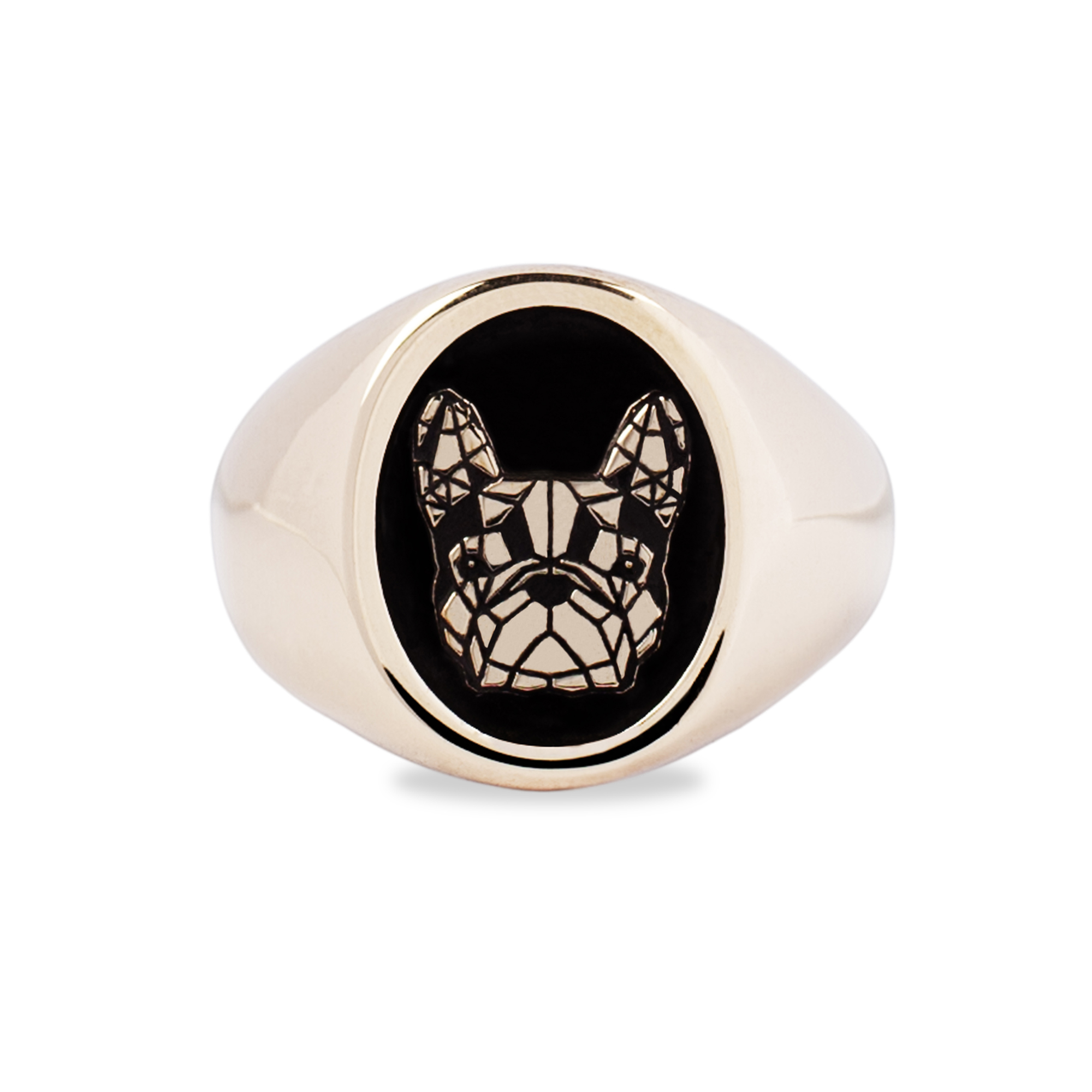 Bronze French Bulldog Ring