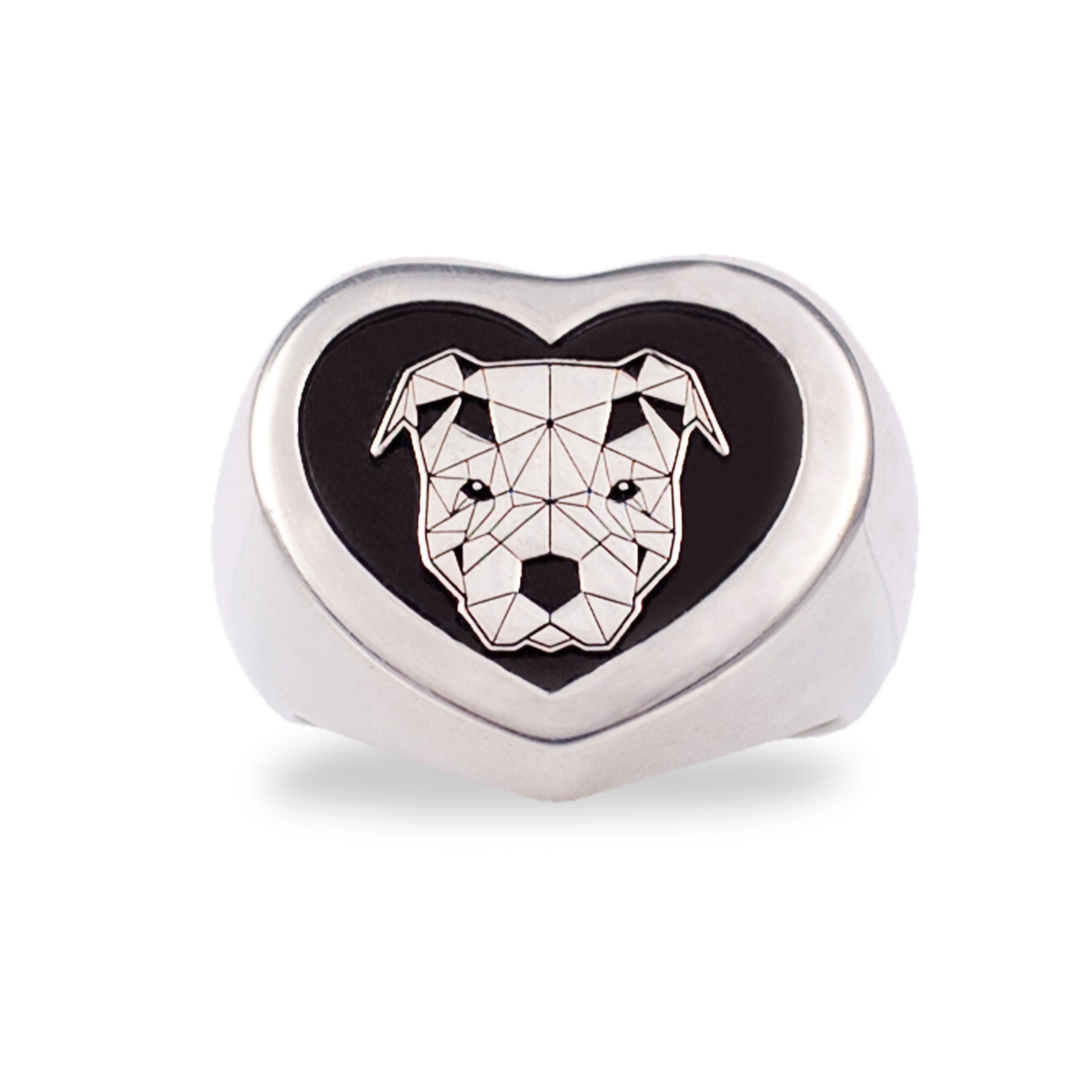 anello cane logo doge argento 925 made in italy